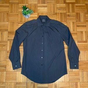 CK Calvin Klein Steel Grey Slim Fit Dress Shirt